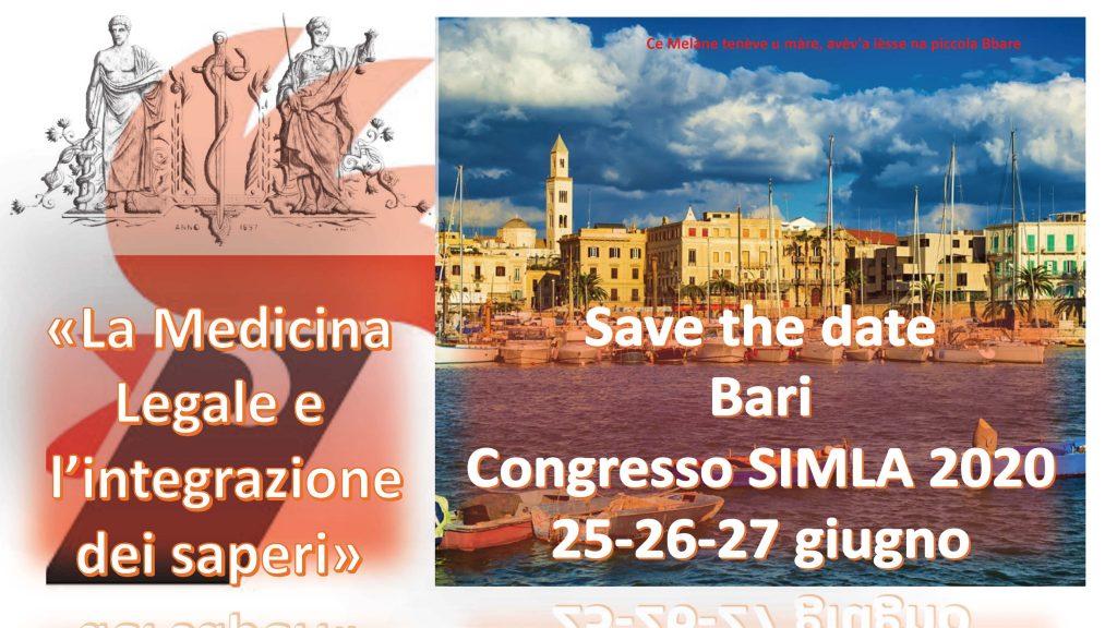 Congresso simla 2020 a bari save the date simla for Societa italiana di criminologia