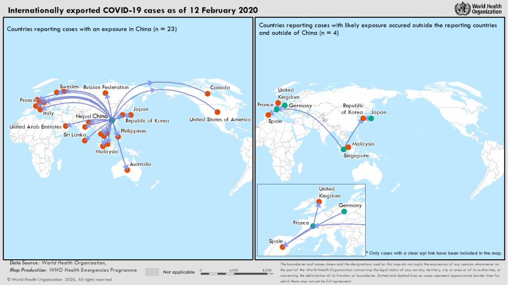 La diffusione dalla Cina della pandemia Covid-19