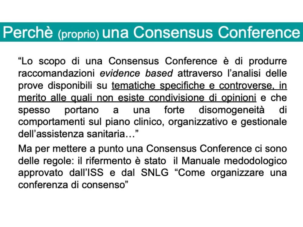Tematiche Consensus Conference