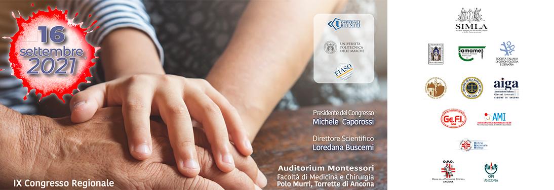 Locandina IX Congresso Regionale Ancora sui soggetti deboli.